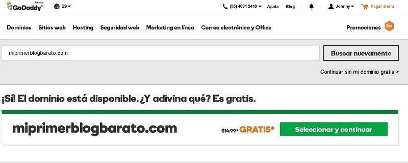 Crear blog barato - Paso 5